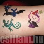 Halloween csillám tetoválás szett