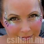 Csillámporos arcfestés kislányoknak