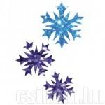 Hópehely 02 sablon csillámtetováláshoz