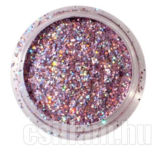 Nagy hologramos lilásrózsaszín csillámpor