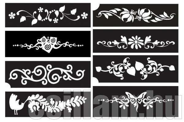 Karkötő minták csillámtetováláshoz
