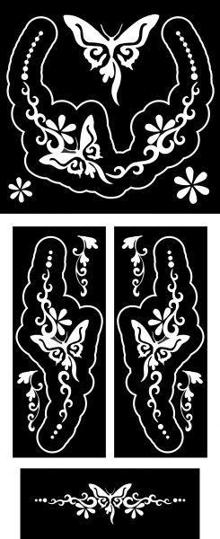 Pillangók-ékszer-festősablon-szett
