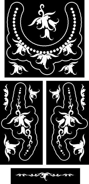 harangvirág-ékszer-festősablon-szett