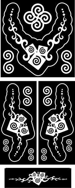 indák-csigák-ékszer-festősablon-szett