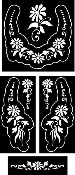 margaréta-ékszer-festősablon-szett