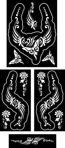 pillangok-2-ékszer-festősablon-szett